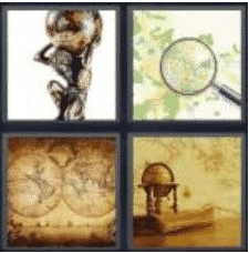 4 Pics 1 Word 5 Letter Answer atlas