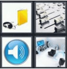 4 Pics 1 Word 5 Letter Answer audio