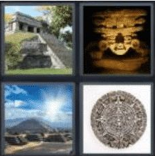 4 Pics 1 Word 5 Letter Answer aztec