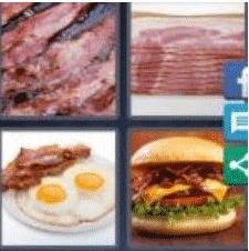 4 Pics 1 Word 5 Letter Answer bacon
