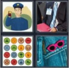 4 Pics 1 Word 5 Letter Answer badge