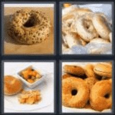 4 Pics 1 Word 5 Letter Answer bagel