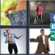 4 Pics 1 Word 5 Letter Answer baggy