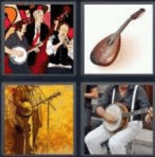 4 Pics 1 Word 5 Letter Answer banjo
