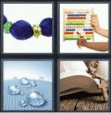 4 Pics 1 Word 5 Letter Answer beads