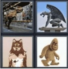 4 Pics 1 Word 5 Letter Answer beast