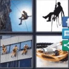 4 Pics 1 Word 6 Letter Answer abseil