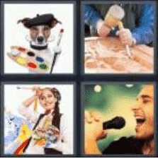4 Pics 1 Word 6 Letter Answer artist
