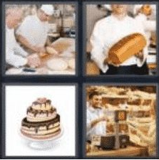 4 Pics 1 Word 6 Letter Answer bakery
