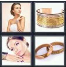 4 Pics 1 Word 6 Letter Answer bangle