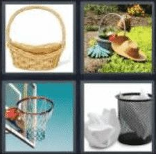 4 Pics 1 Word 6 Letter Answer basket