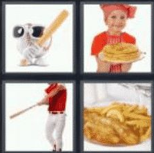 4 Pics 1 Word 6 Letter Answer batter