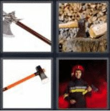 4 pics 1 word 3 letter axe
