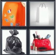 4 pics 1 word 3 letter bag