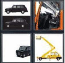 4 pics 1 word 3 letter cab