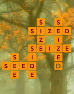 Wordscapes Fall 15 Level 575 answers