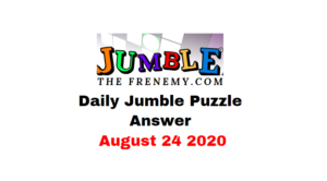 jumble puzzle answers august 24 2020