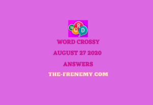 word crossy august 27 2020 answers daily