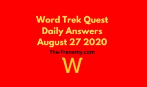 word trek august 27 2020 answers daily