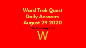 word trek august 29 2020 answers daily