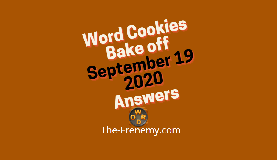 Word cookies bakeoff september 19 2020 answers