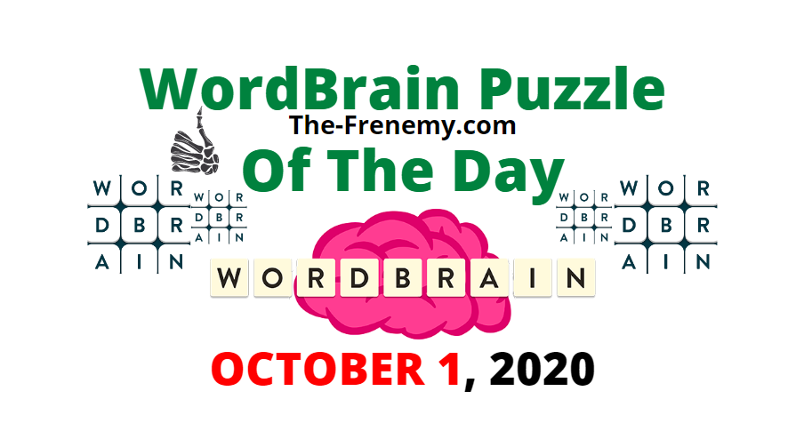 Wordbrain Puzzle of the Day October 1 2020 Answers Daily