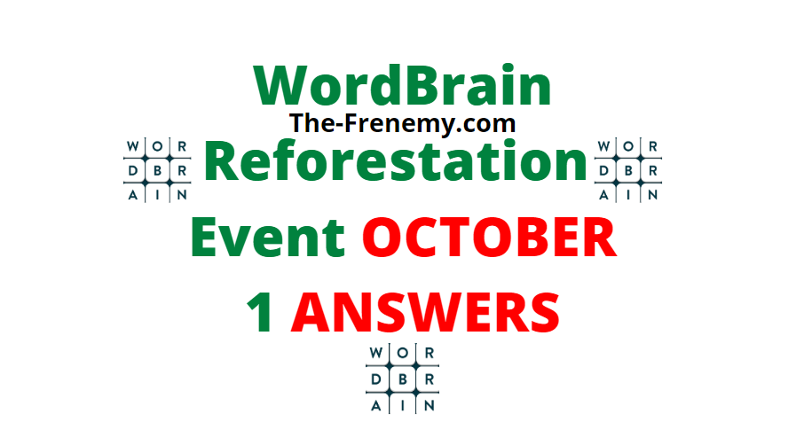 Wordbrain Reforestation October 1 2020 Answers Daily