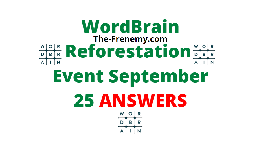 Wordbrain reforestation September 25 2020 Answers
