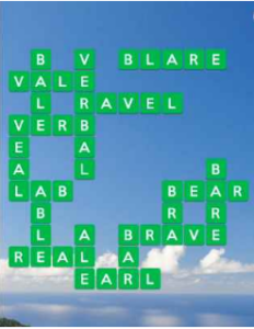 Wordscapes Aerial 12 Level 3884 answers