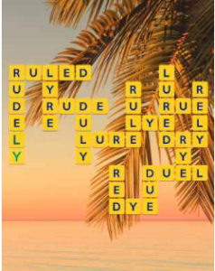 Wordscapes Beach 9 Level 2665 answers