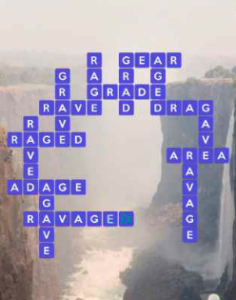 Wordscapes Below 16 Level 3376 answers
