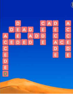 Wordscapes Dry 16 Level 2400 answers