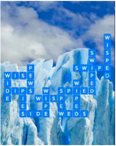 Wordscapes Ice 16 Level 4400 answers