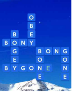 Wordscapes Icey 10 Level 1658 answers