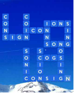 Wordscapes Icey 4 Level 1652 answers