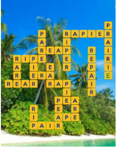 Wordscapes Palm 6 Level 2646 answers
