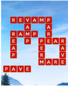 Wordscapes Pine 14 Level 3358 answers