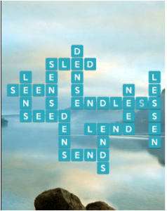 Wordscapes Serene 9 Level 1001 answers