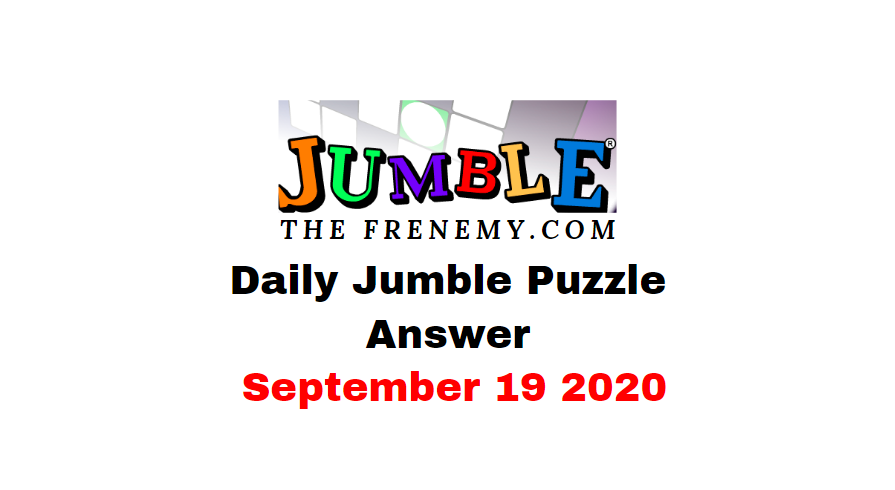 jumble puzzle answers september 19 2020