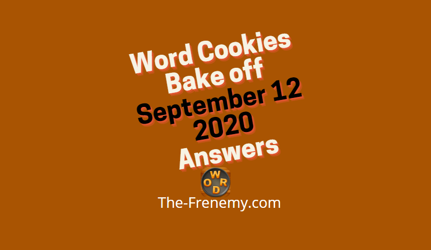 word cookies bake off september 12 2020 answers