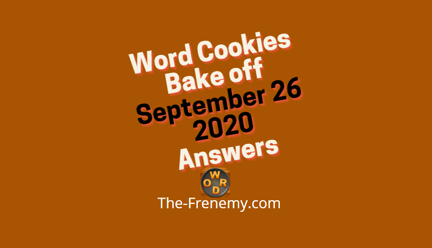 word cookies bakeoff september 26 2020 answers