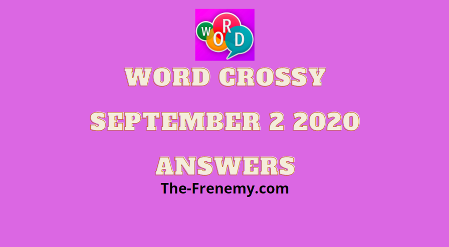 word crossy daily september 2 2020 answers