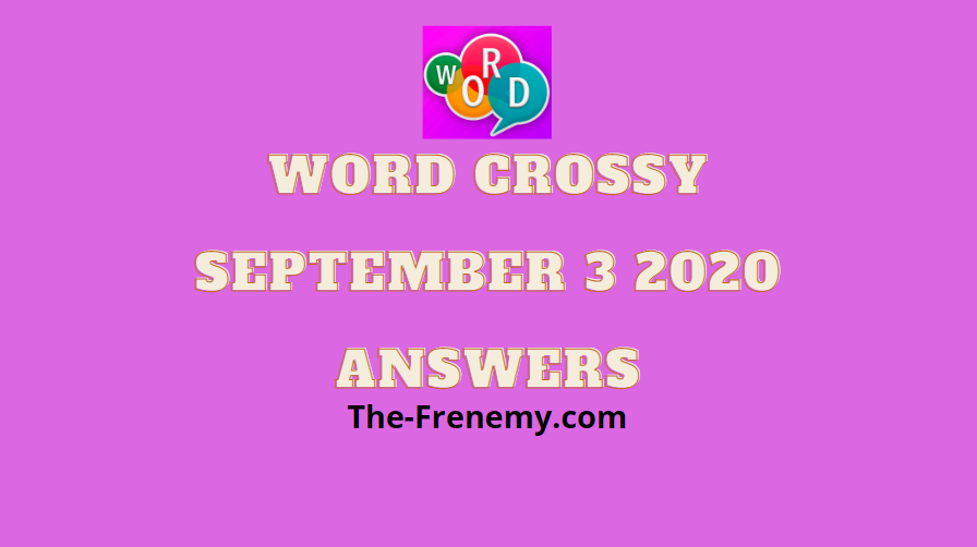 word crossy daily september 3 2020 answers