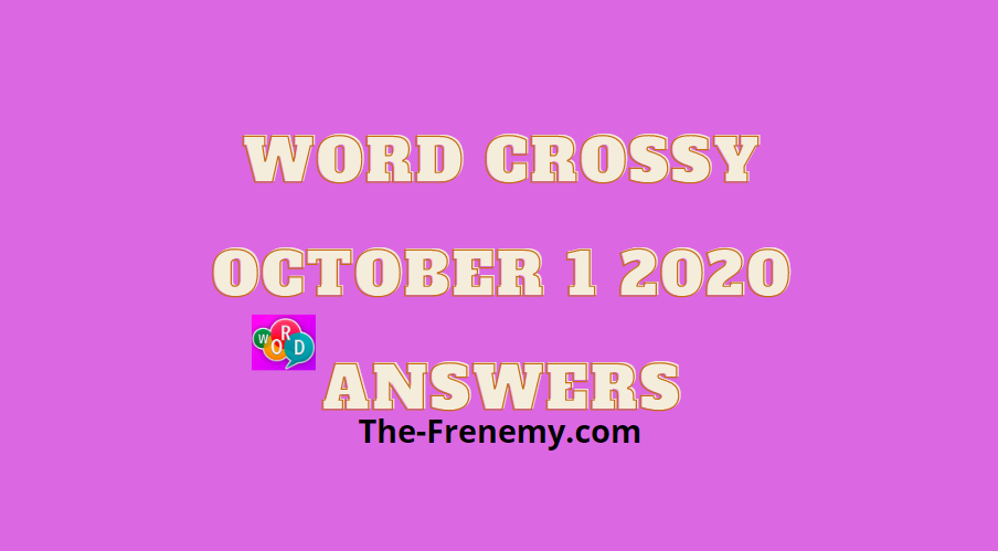 word crossy october 1 2020 answers daily