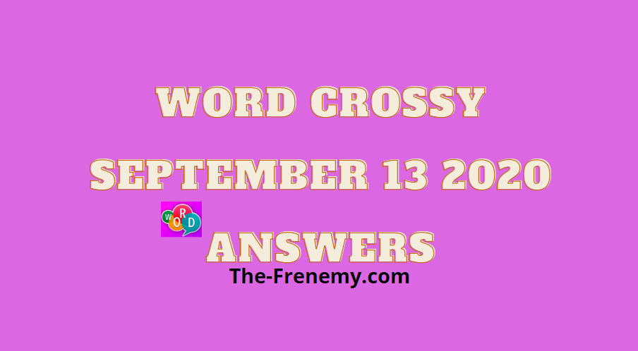 word crossy september 13 2020 answers