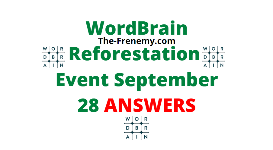 wordbrain Reforestation september 28 2020 answers daily