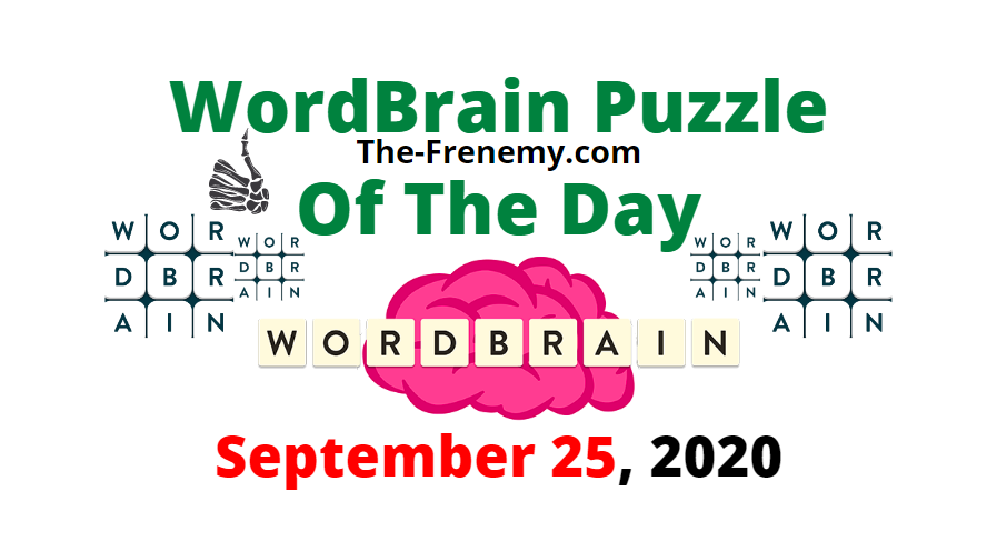 wordbrain puzzle of the day september 25 2020 Answers