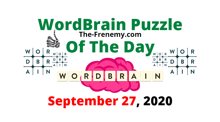 wordbrain puzzle of the day september 27 2020 answers