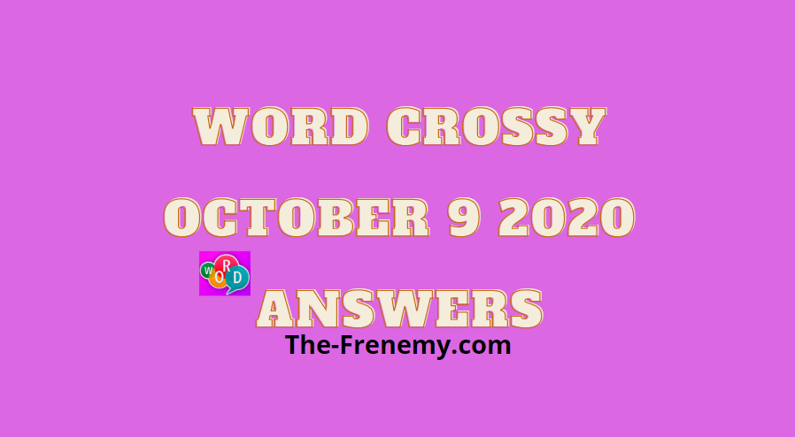 Word Crossy October 9 2020 Answers Daily