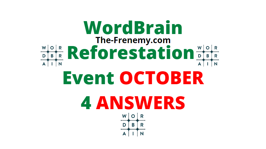 Wordbrain reforestation October 4 2020 Answers Daily